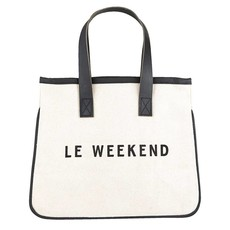 Mini canvas tote le weekend