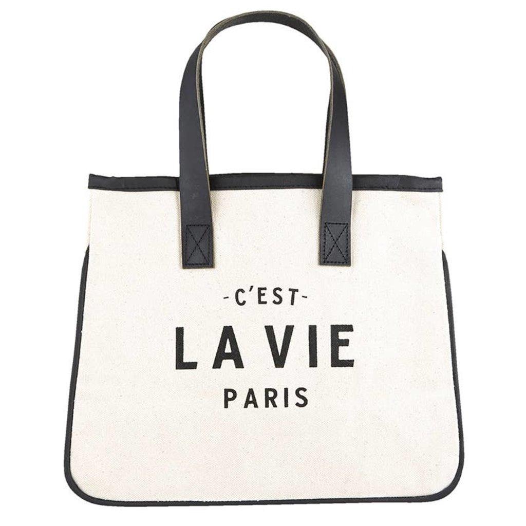 LPM Mini canvas tote Paris
