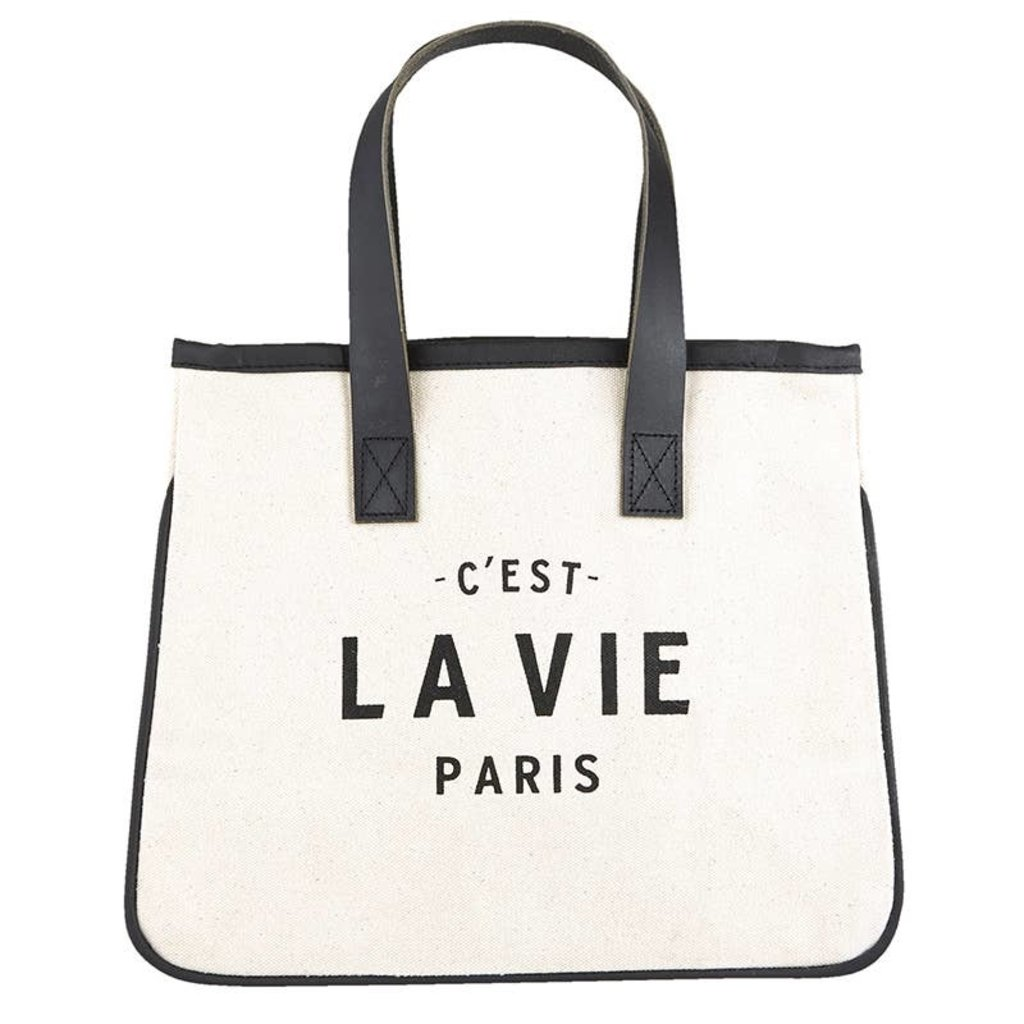 Mini canvas tote Paris