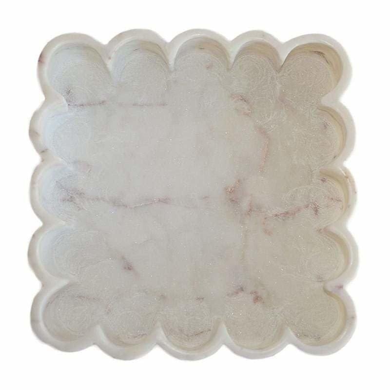 Marble Petal Trays