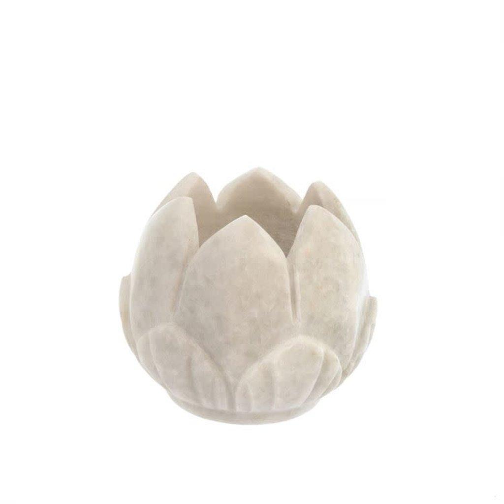 Marble Lotus Votive