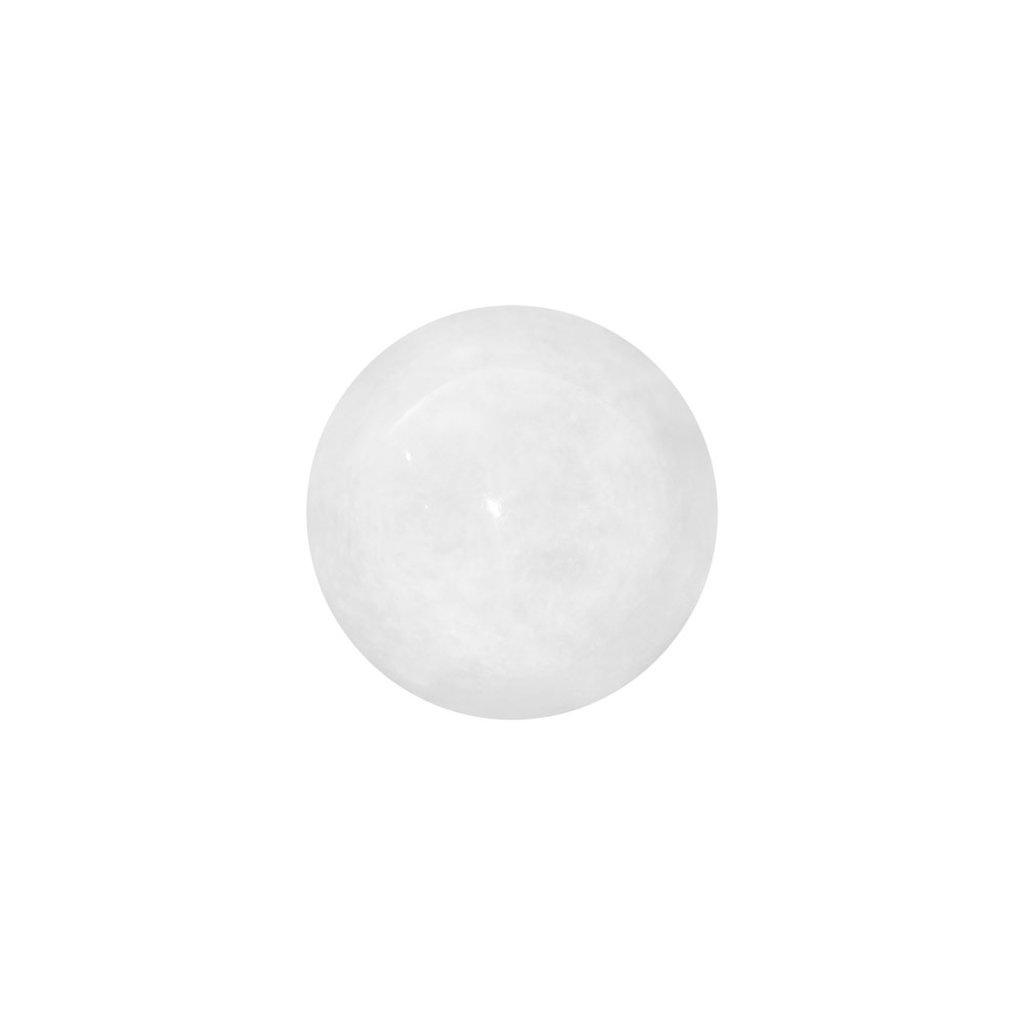 "Marble Ball - 4"" Pearl White"