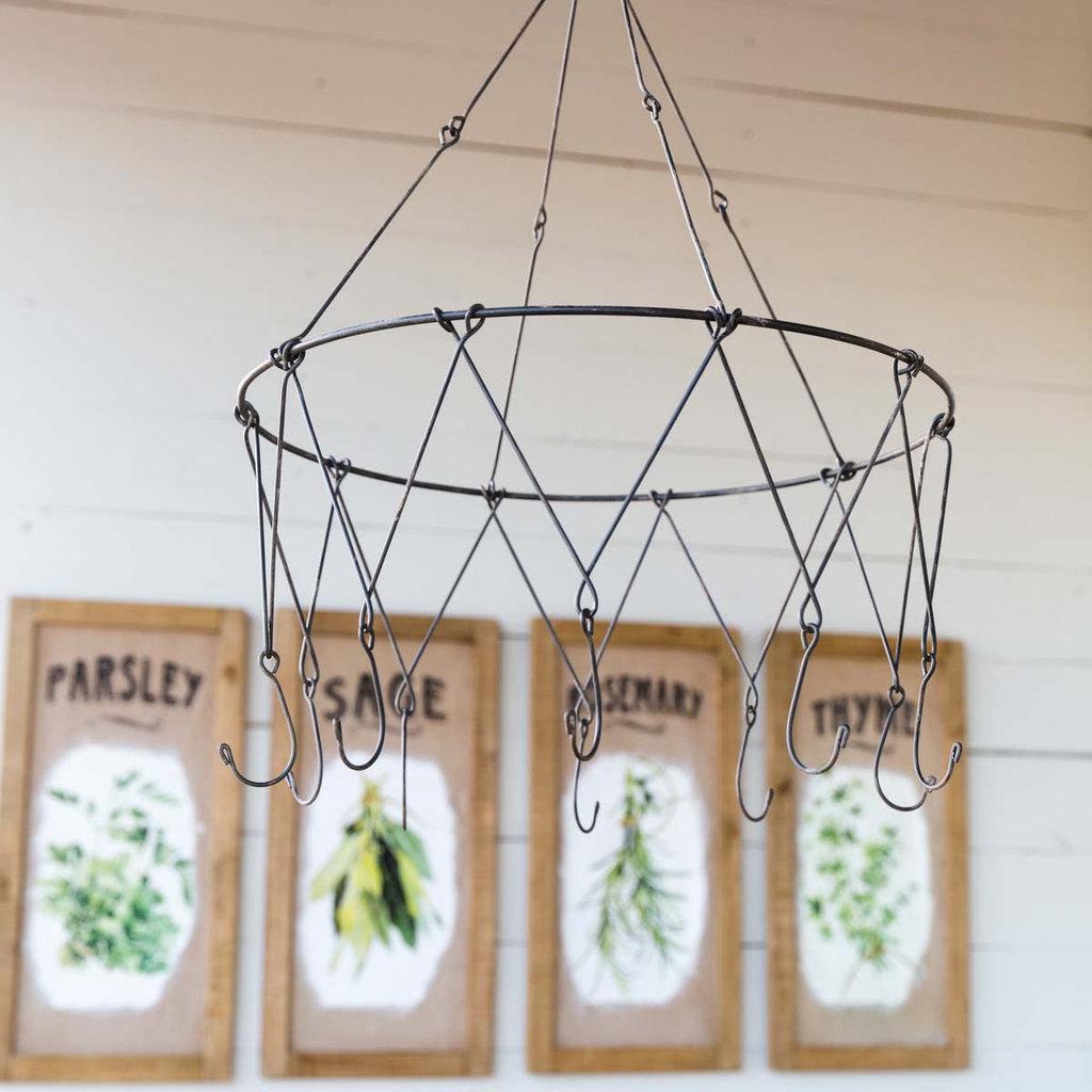 LPM Hanging Metal Herb Drying Rack