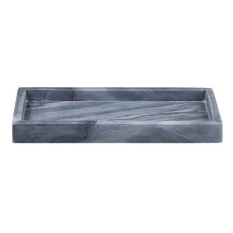 LPM Grey Rectangle Marble Tray