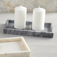 Grey Rectangle Marble Tray