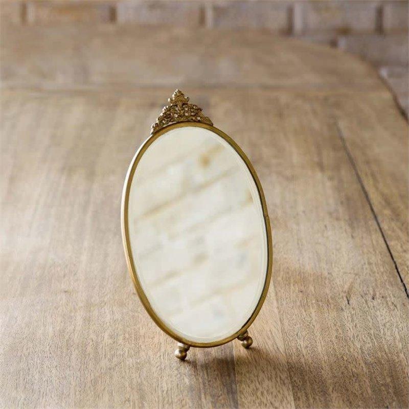 LPM Antique Brass Vanity Mirror