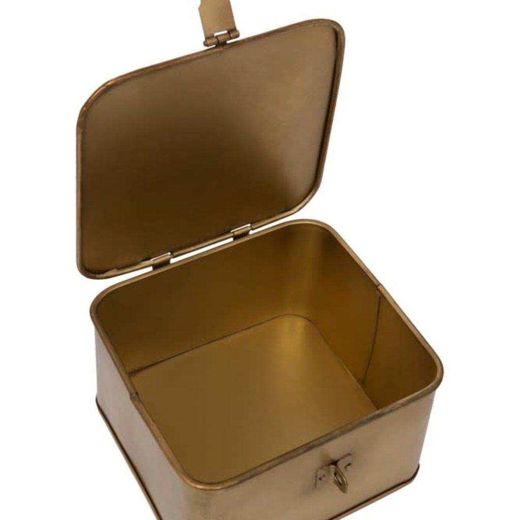 LPM Square Decorative Metal Box, large