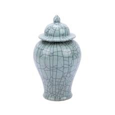 Crackled Celadon Temple Jar