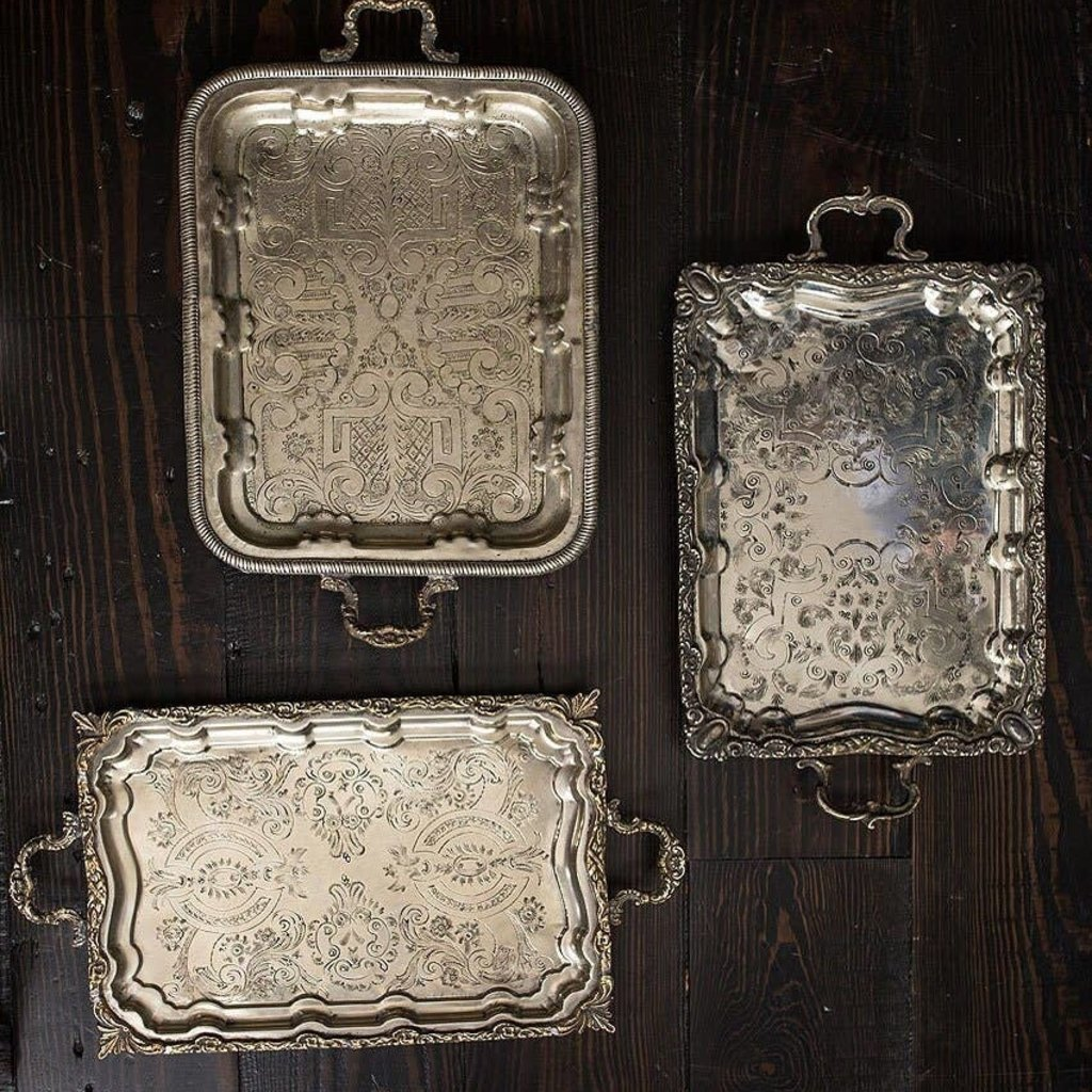 Vintage Silver Rectangular Tray