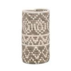 Light Taupe Diyama Vase with Glass Insert