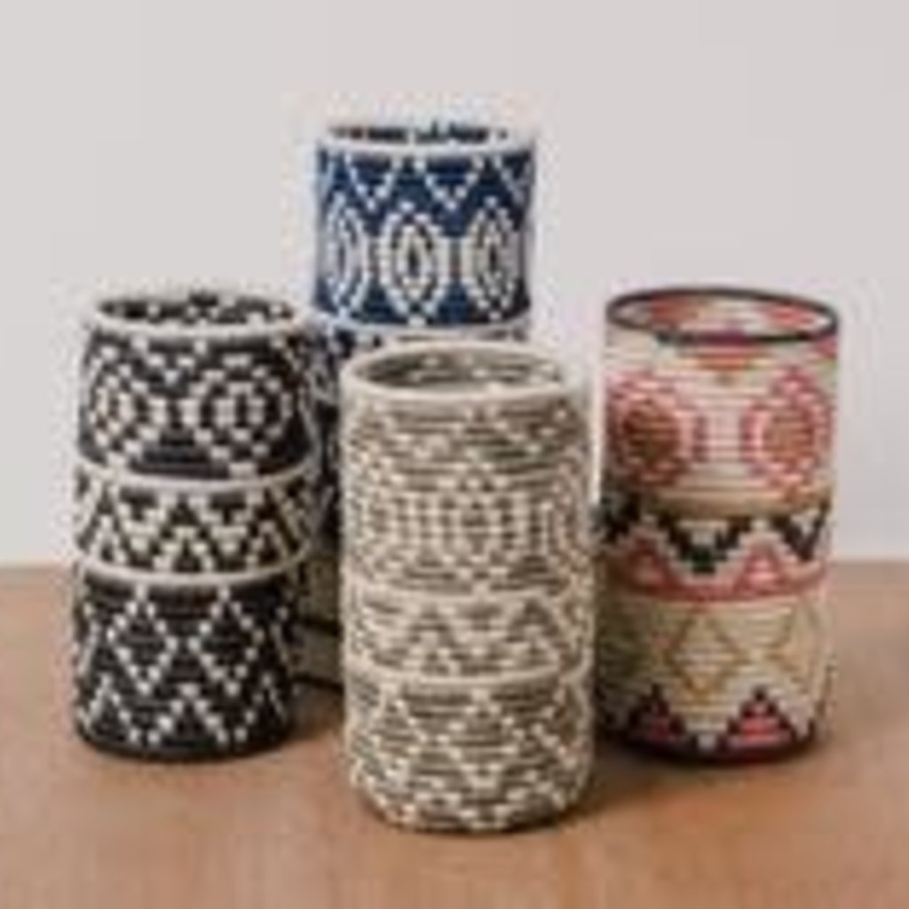 LPM Light Taupe Diyama Vase with Glass Insert