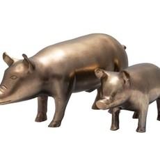 Antique brass pig, small