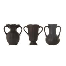 Ceramic Vase, Matte Black
