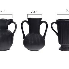 LPM Ceramic Vase, Matte Black