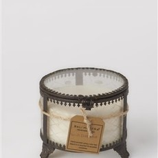 Glass and Brass Vessel Candle, Peach and Grapefruit Scent