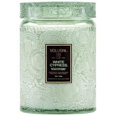 White Cypress Jar Candle, Large