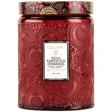 Goji Tarocco Orange Jar Candle, Large