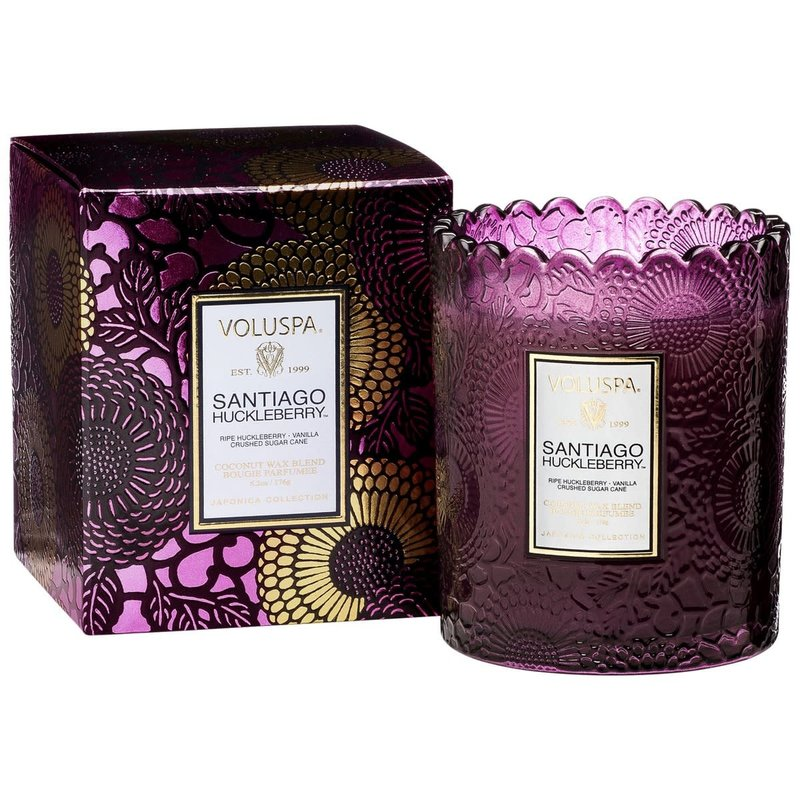 LPM Santiago Huckleberry Boxed Scallop Candlepot