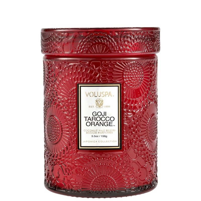 Goji Tarocco Orange Jar Candle, Small