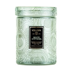 White Cyprus Jar Candle, Small