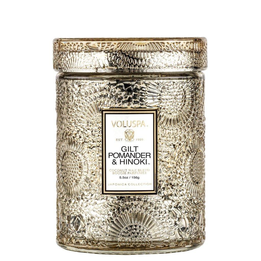 LPM Small Jar Candle, Gilt Pomander & Hinoki