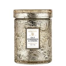 Small Jar Candle, Gilt Pomander & Hinoki