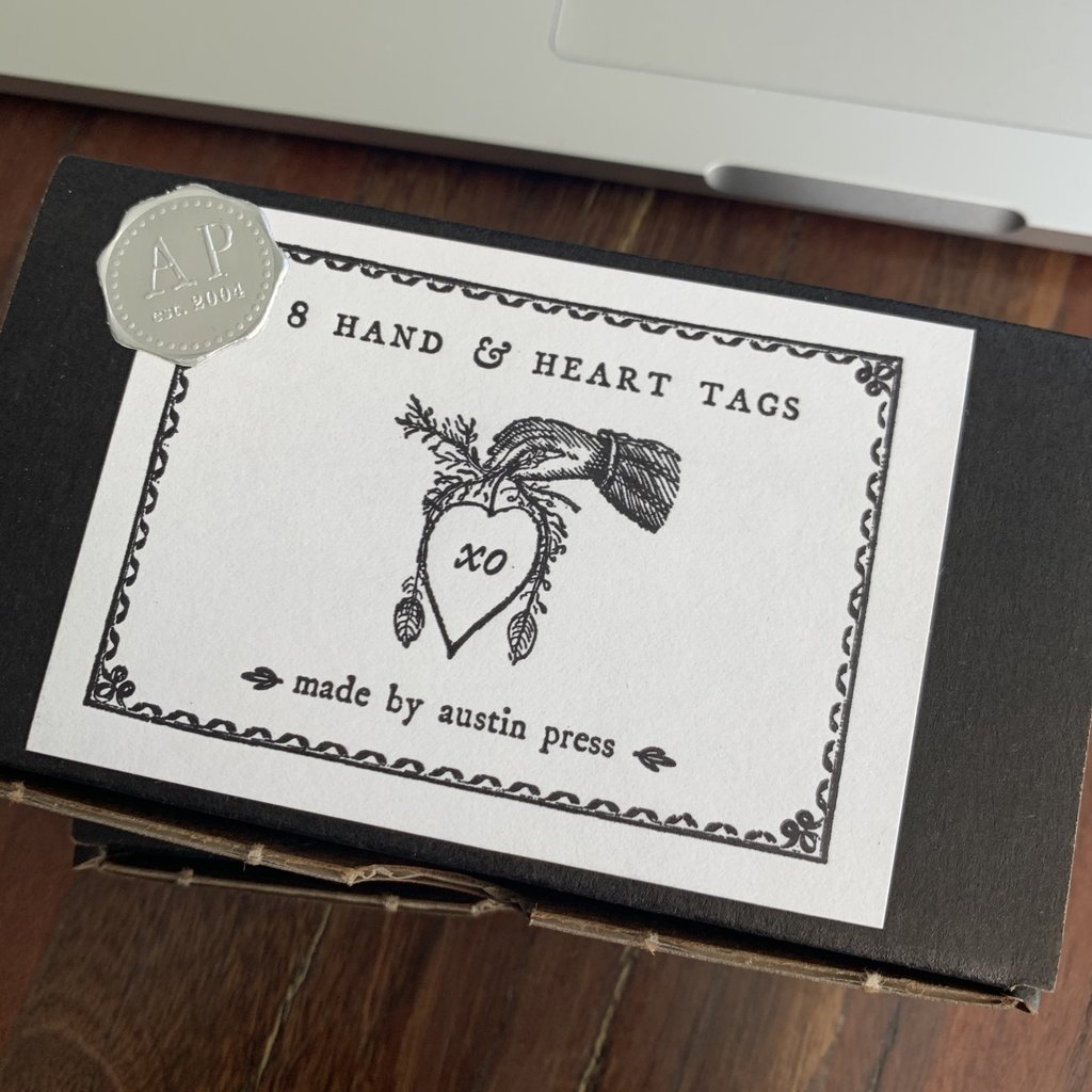 """Gift Tag Set, """"Hand and Heart"""""""