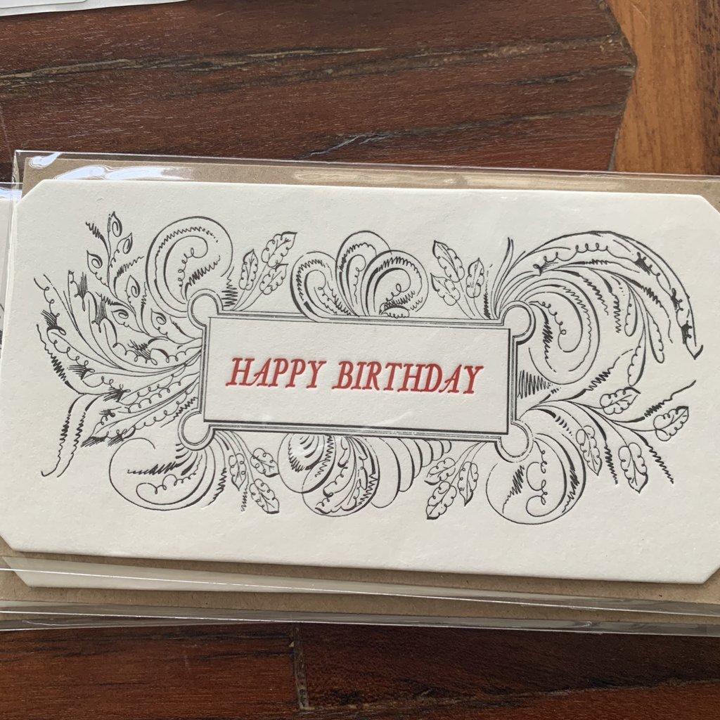 """Happy Birthday,"" Visiting Cards"