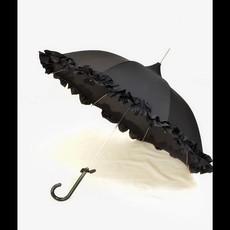 Pagoda Umbrella, Black, Ruffled