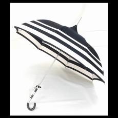 Pagoda Umbrella, Black & Cream Stripe