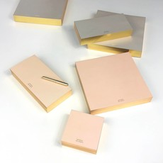 Color Pad with Gilded Edge, Large, Blush