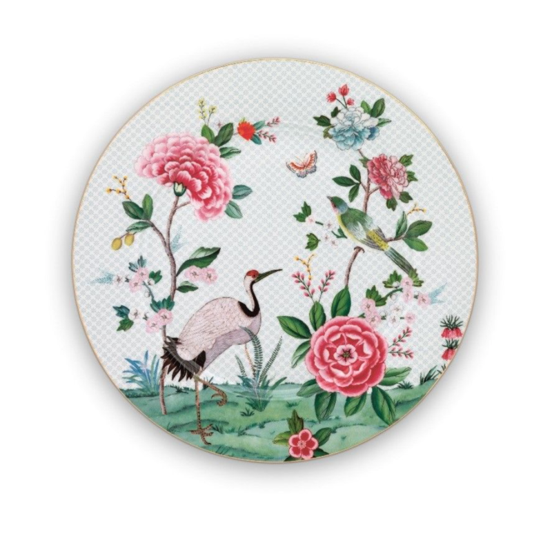 Pip Studio Blushing Birds Plate, White, Large