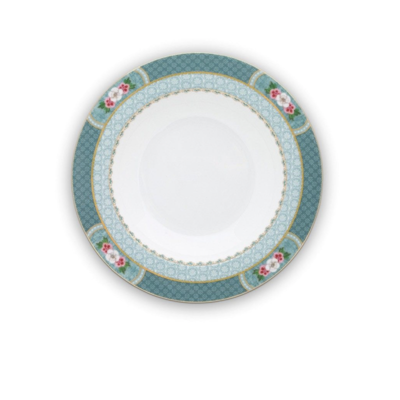 Pip Studio Blushing Birds Soup Plate,  Blue