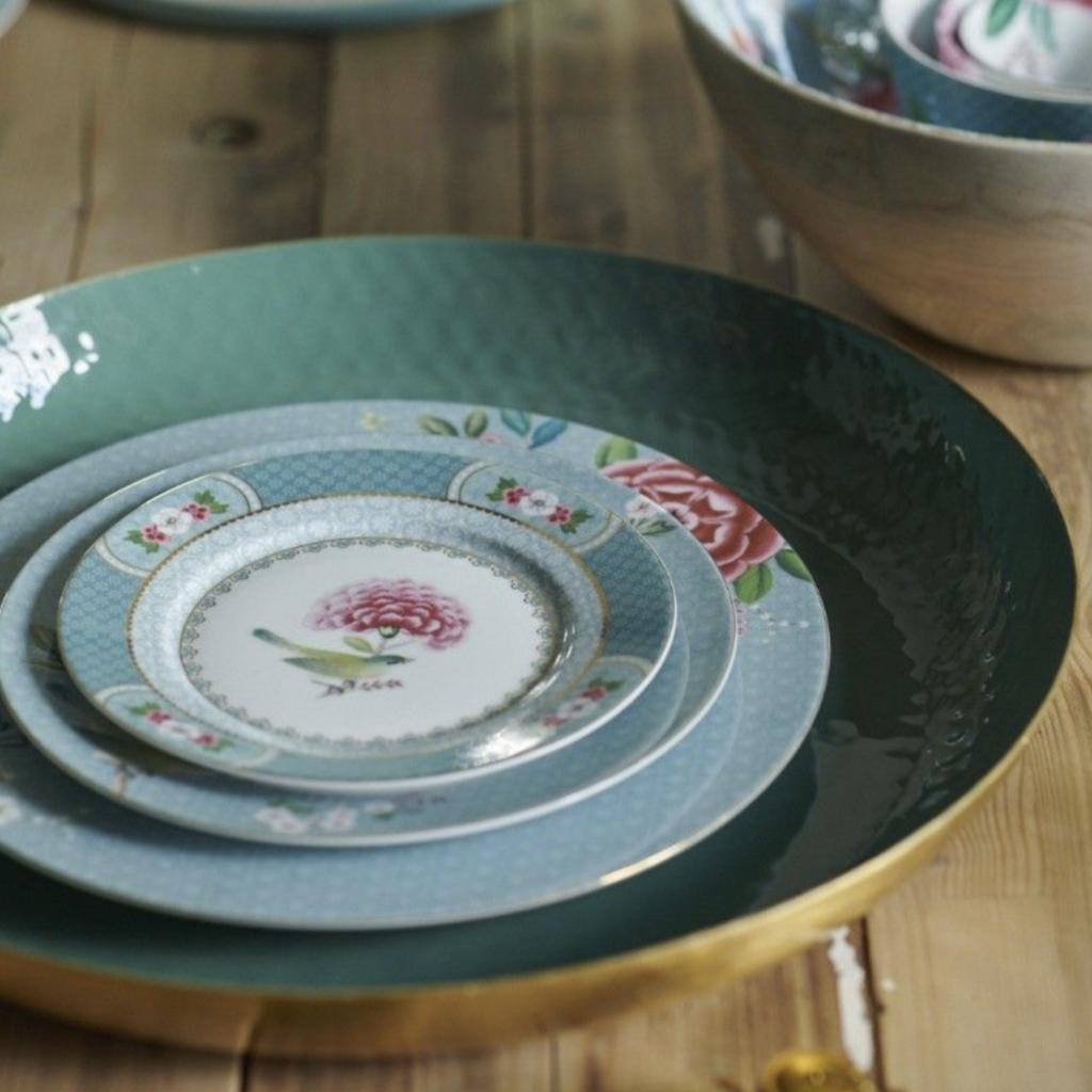 Pip Studio Blushing Birds Soup Plate,  Blue