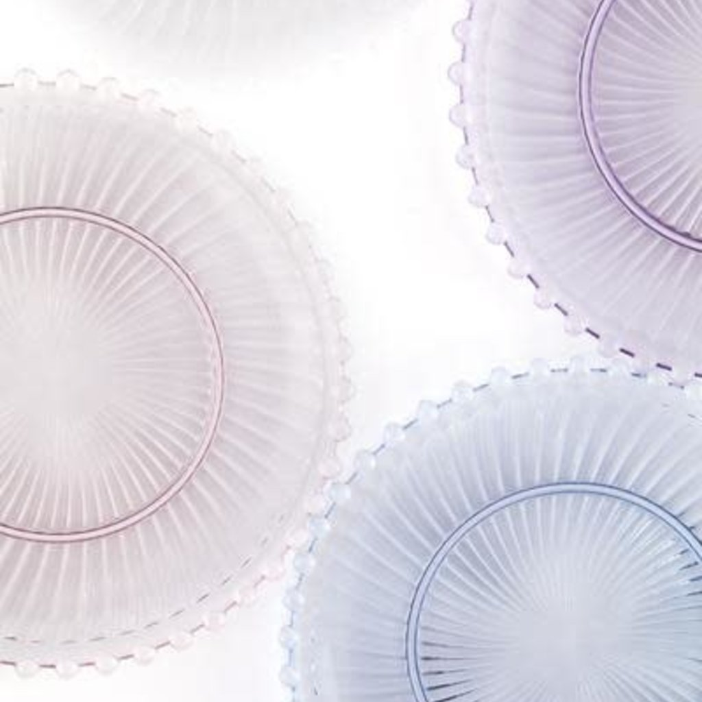 Dentelle Aurora Glass Plate in Clear