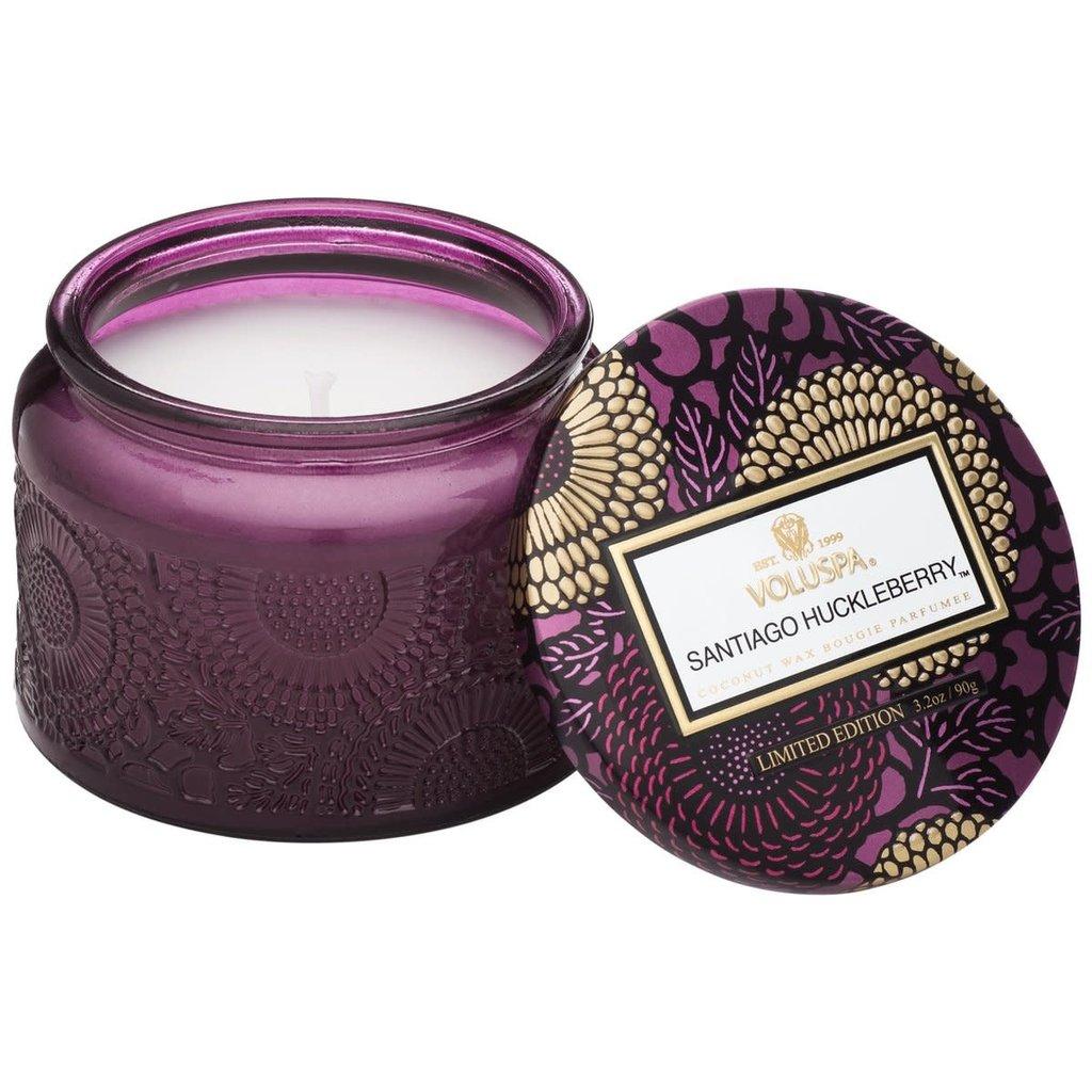 Santiago Huckleberry Jar Candle, Petite