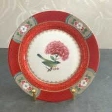 Pip Studio Blushing Birds Breakfast Plate, Red