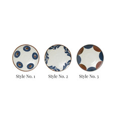 Round Porcelain Plate, Style No. 1
