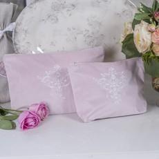 Victorian Velvet Zipper Bag, Dusty Pink, Large