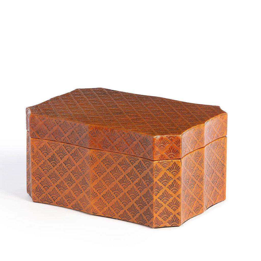 LPM Layla Leather Embossed Storage Box