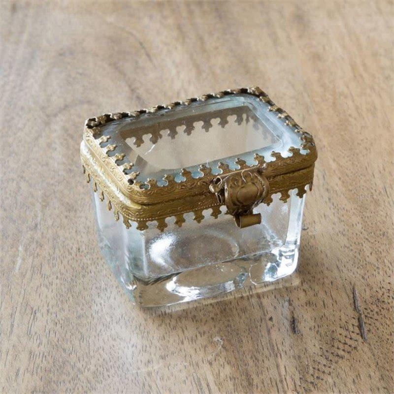 LPM Brass and Glass Pill Box