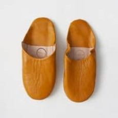 Ochre Moroccan Babouche Basic Slippers, large