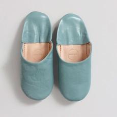 Pearl Gray Moroccan Babouche Basic Slippers, medium
