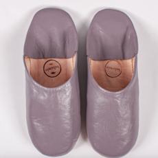 Violet Moroccan Babouche Basic Slippers, Medium