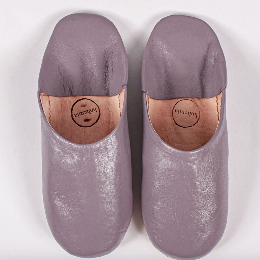 Violet Moroccan Babouche Basic Slippers, large