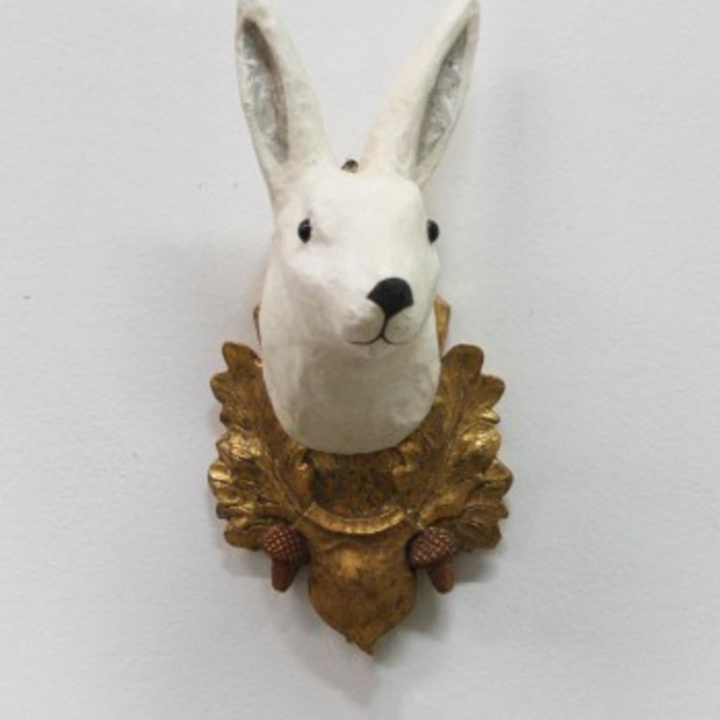 LPM White Rabbit and Oak Plaque