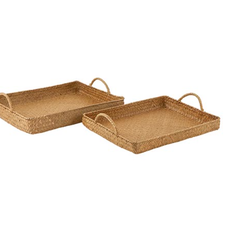 LPM Rectangle Tray with Handles. set of 2