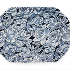 LPM Blue Hibiscus Large Rectangle Platter