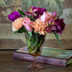 Hazel Etched Glass Goblet