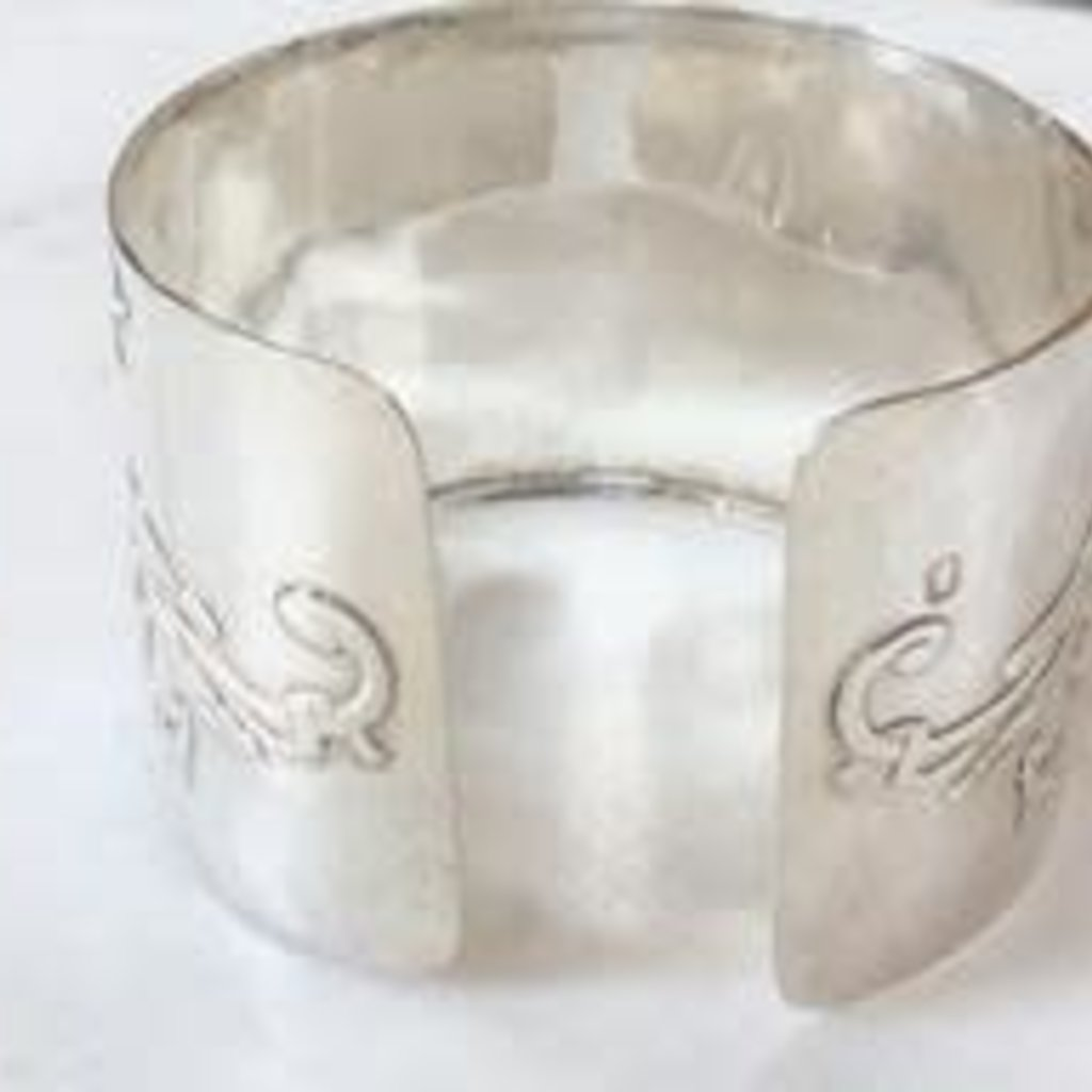 French Napkin Ring Cuff, Sterling Silver
